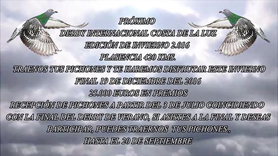 DERBY DE INVIERNO anuncio